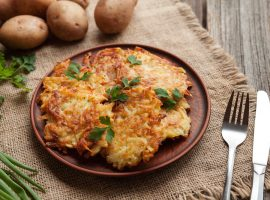 traditional potato pancakes or latke Hanukkah