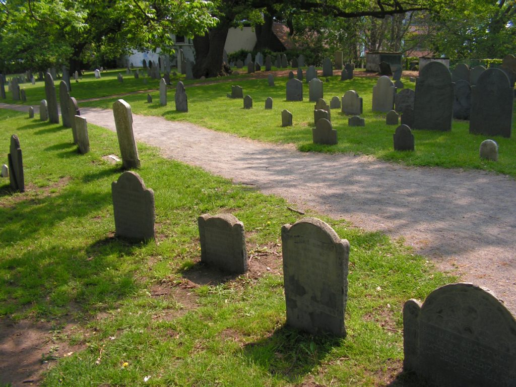 Witches Graveyard In Salem Massachusetts