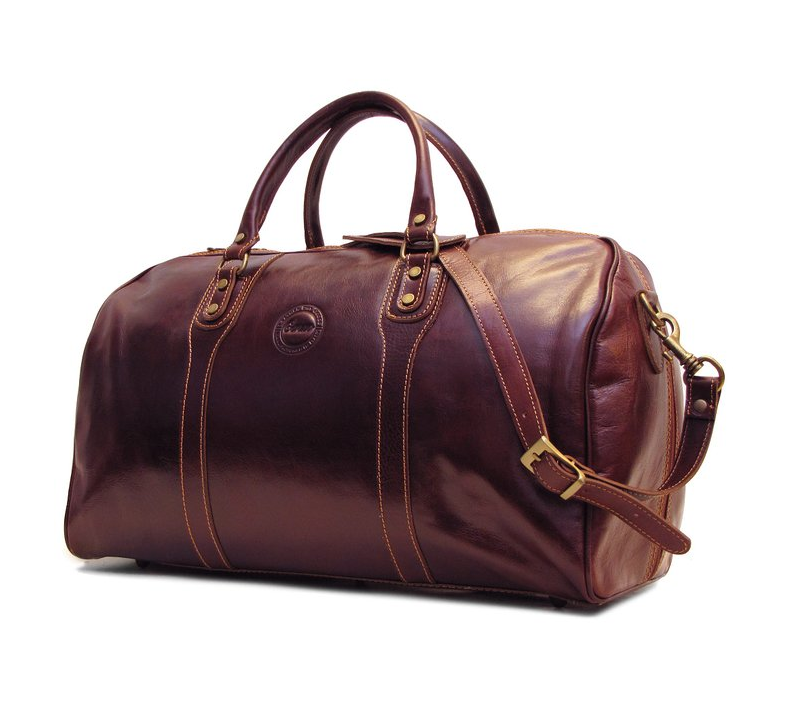 cenzo leather weekend bag