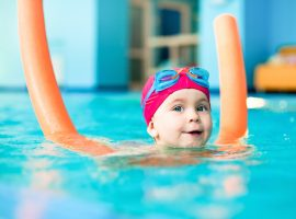 Child In an indoor Pool