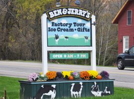 Ben Jerry's Ice Cream Factory tour