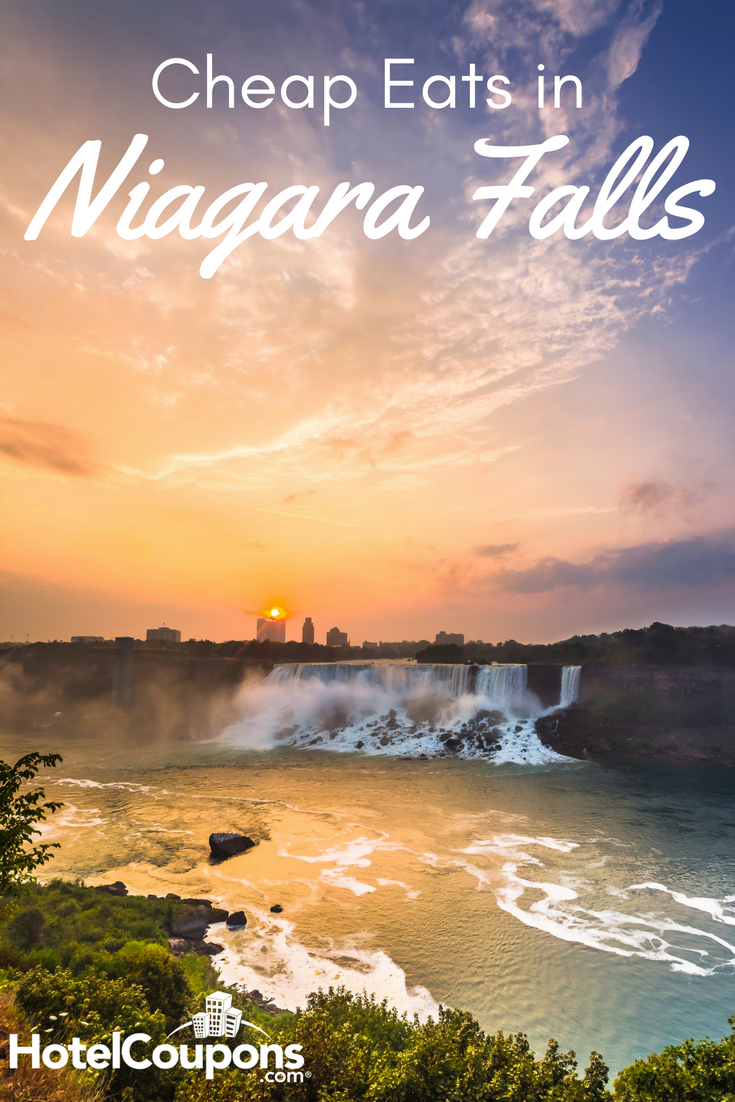 Enjoy baked goods, pizza and more nearby the thundering Niagara Falls.