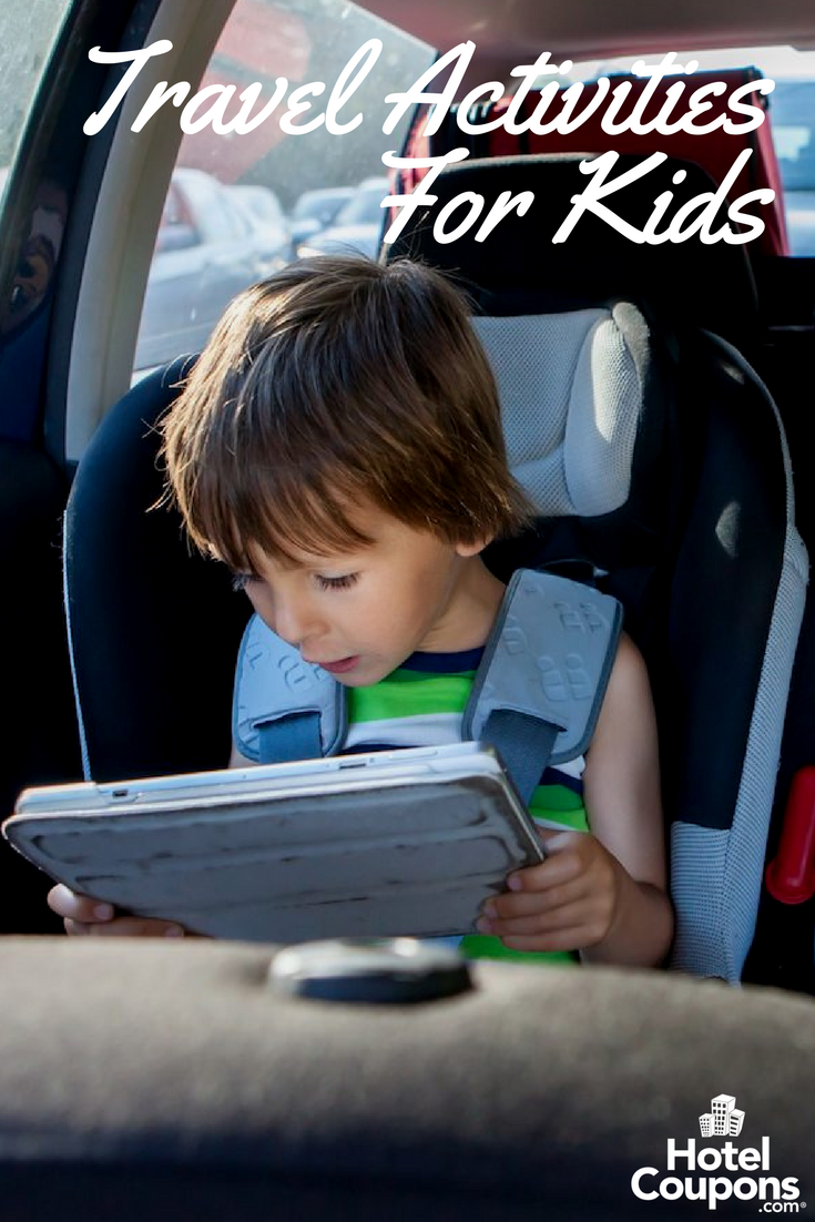 Child playing on iPad in the car
