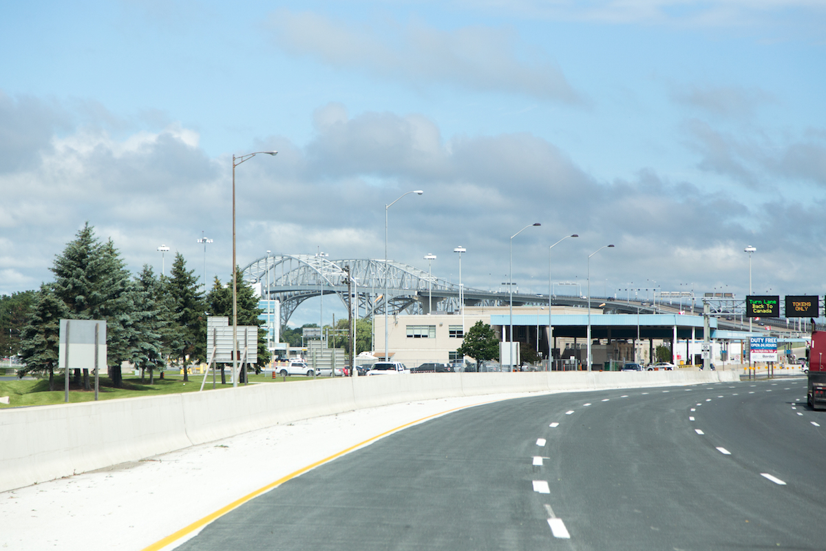 Approaching the US Canada border