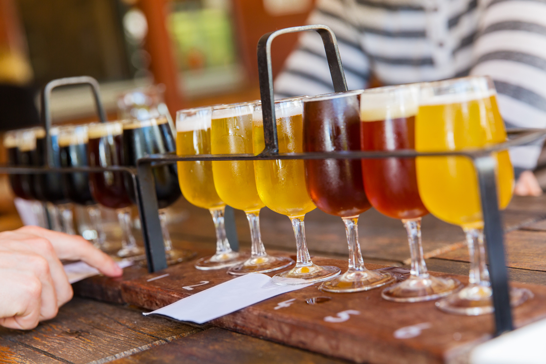 Tasting different types of beers