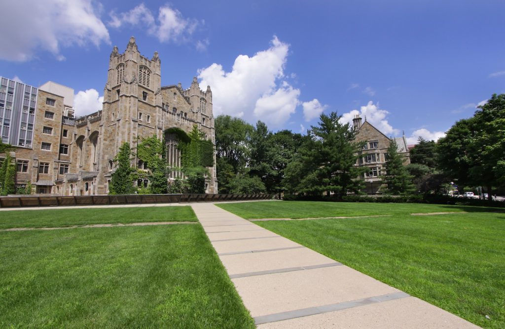 Law college in historic university of Michigan campus