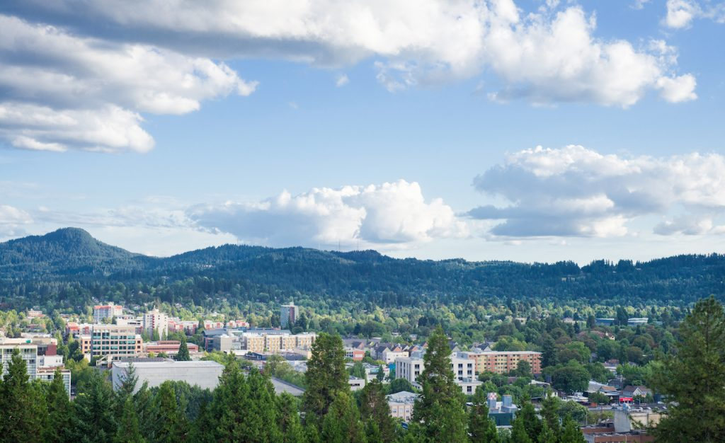 Skyline of Eugene, OR