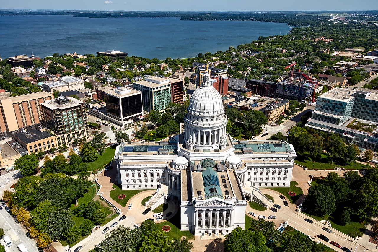 Sky view of Madison, Wisconsin
