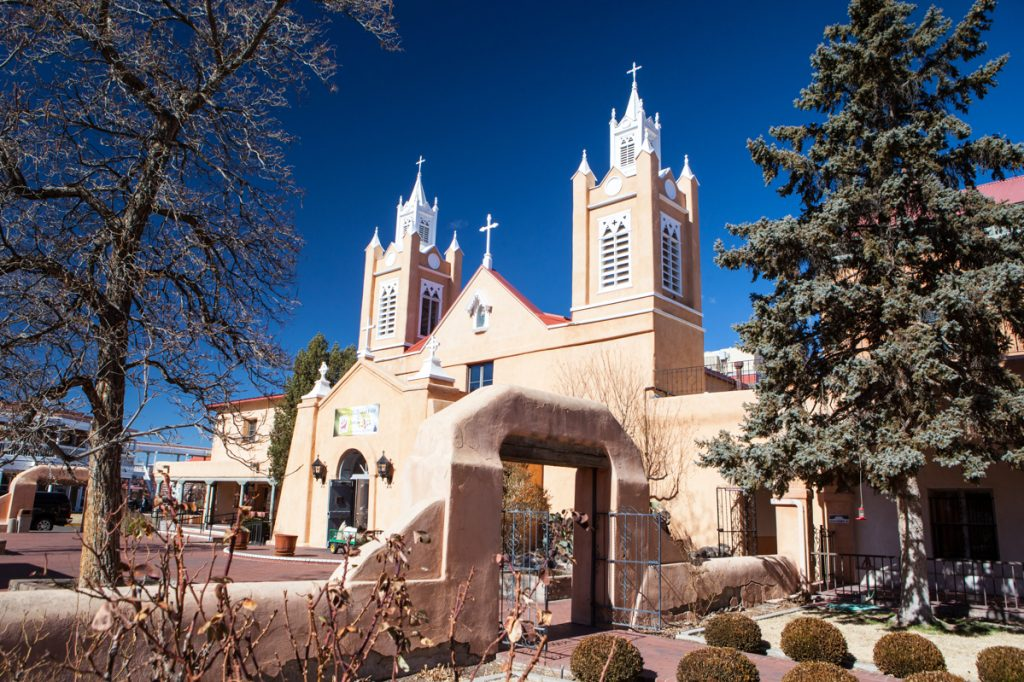 San Felipe de Neri Church in Old Town Alburqueque New Mexico USA