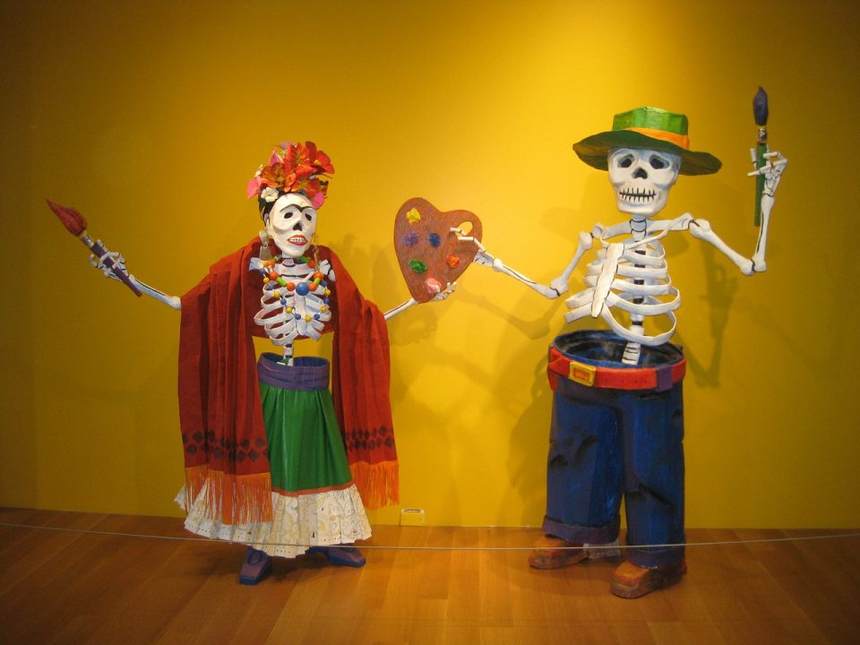 Art piece representing the day of the dead