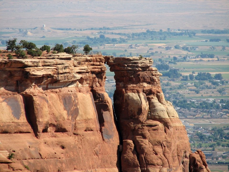 View of the window rock in Colorado National Monument