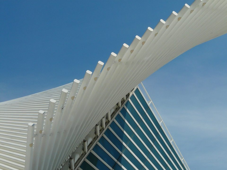 Outside of the Milwaukee Art Museum