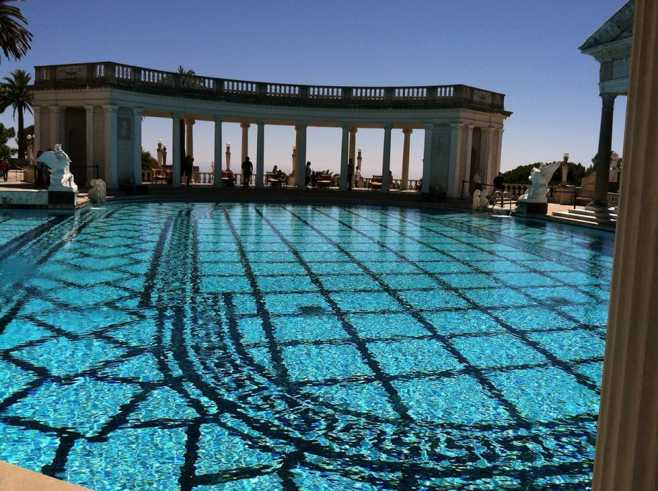Close up of the Hearst Castle pool in California