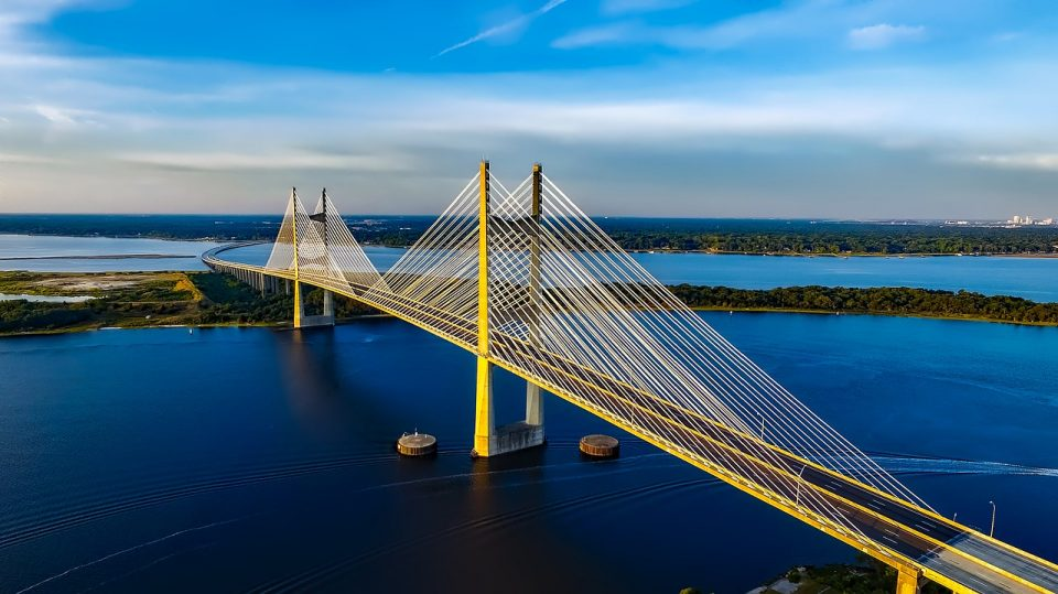 Dames point bridge in Jacksonville, Fl