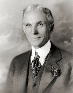 black and white photograph of Henry Ford