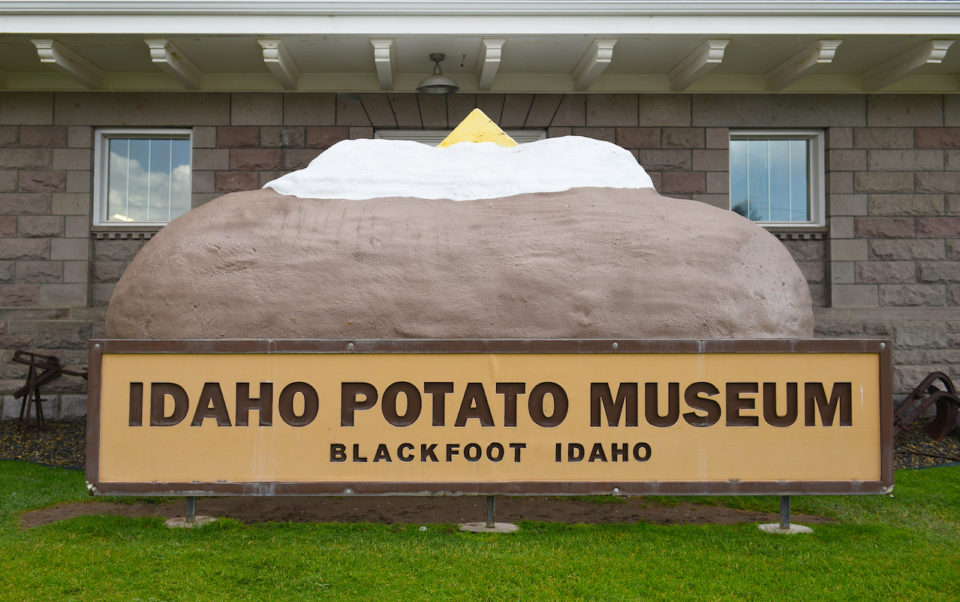 Giant Baked Potato at the Idaho Potato Museum.