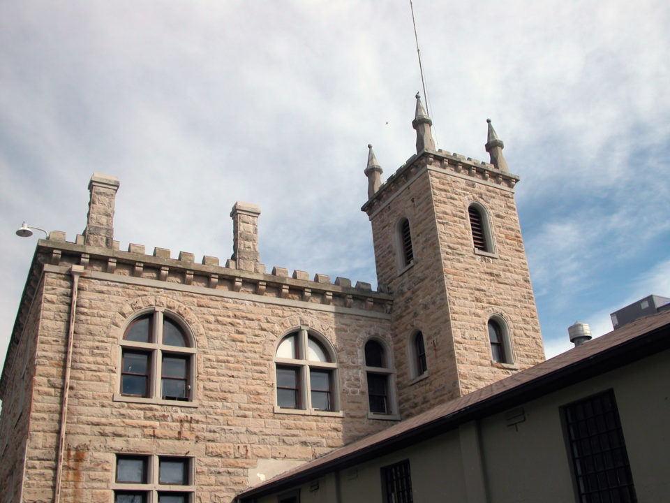 outside of the Old Idaho Penitentiary in Boise, Idaho