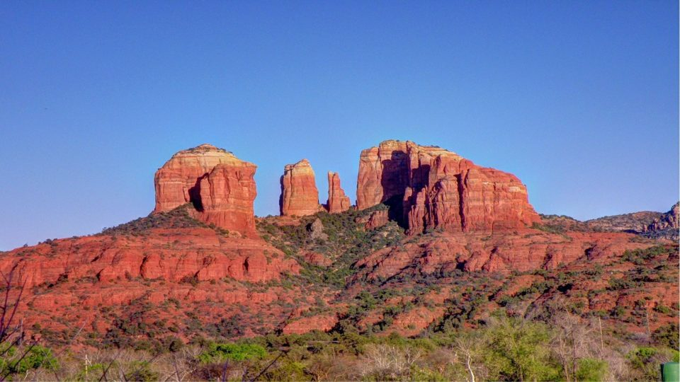Red rock formations in Sedona, AZ