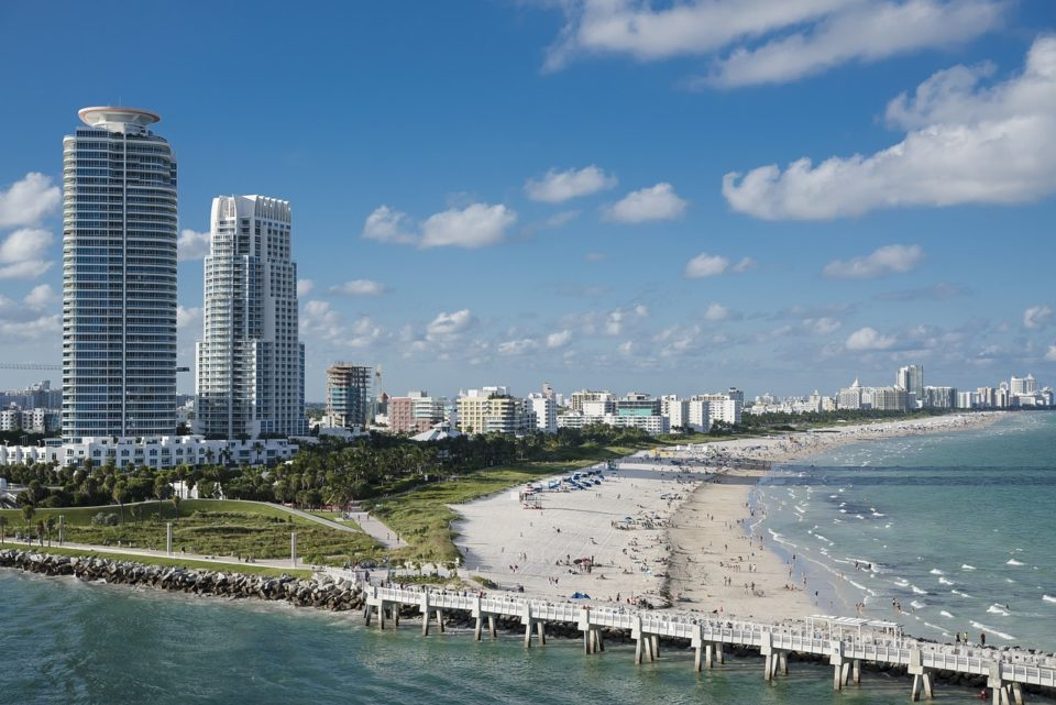 Sunny South Beach in Miami, Florida